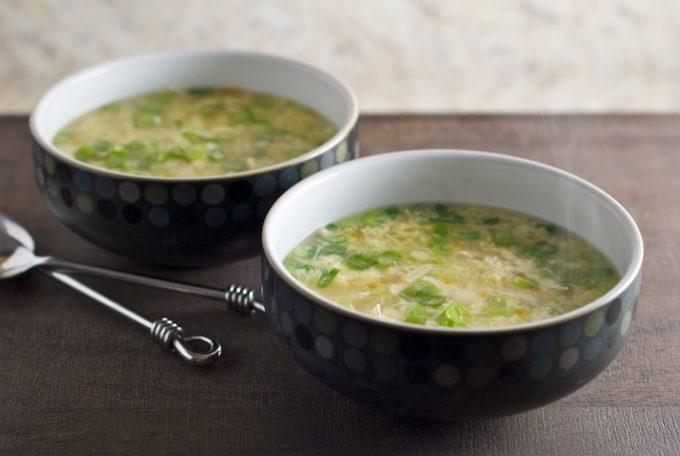 Овощной суп-пюре с яйцом
